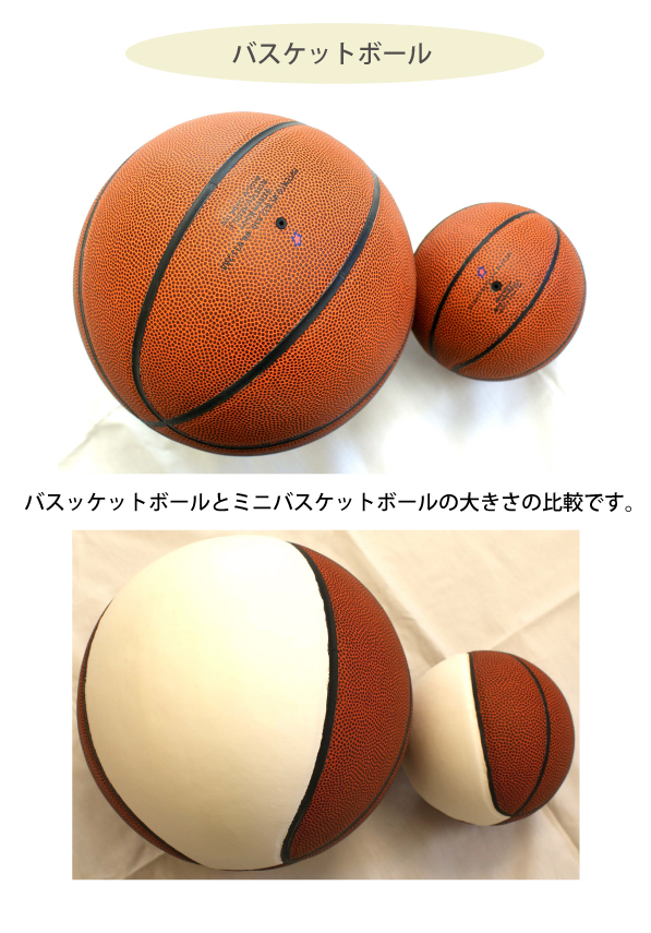 バスケットボールにプリント