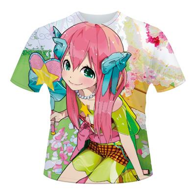 全面プリントTシャツの作成例:キャラクター