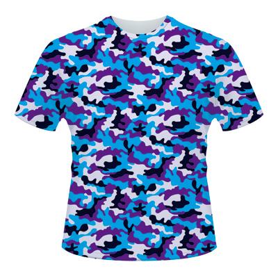 全面プリントTシャツの作成例:迷彩柄